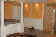Fitnessbereich aus Holz