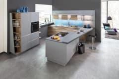 Küchenschreiner aus München -  Küchen  Tinos-grigio-antrim-L-und eichefarben-vintage