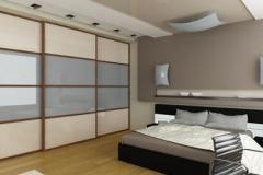 Doppelbett mit passendem Schranksystem